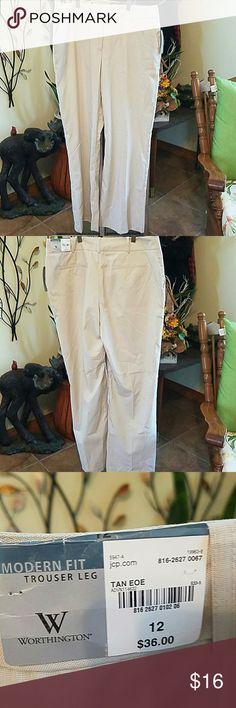 NWT Worthington Dress pants Size 12 75% polyester  23% rayon  2% spandex Worthington Pants Trousers