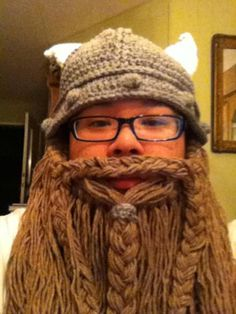 Crochet Dwarf Beard Hat Pattern : Viking Hat lol I love it!
