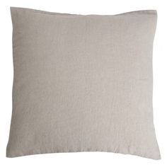 Stone washed linen cushion - Canvas