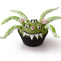 halloween gebäck cupcakes außerirdischer