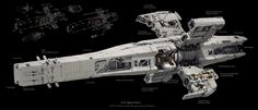 "retrosci-fi:  ""U.N. Space Navy Haruna Class Planetary Assault Platform by Prog Wang"" ~Imaginary Technology"
