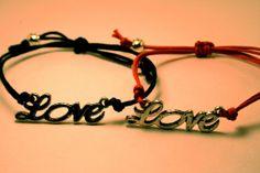 Set of Love Bracelets Love Charm Bracelets by CraftsbyBrittany, $9.50