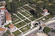 Aerial view of the Royal  Palace of Caxias  Oeiras
