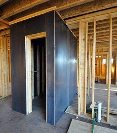 fbe36654f264fdcd08e911ff322193d4 tornado room safe room saferoom tornado shelter in basement house pinterest,House Plans With Tornado Safe Room
