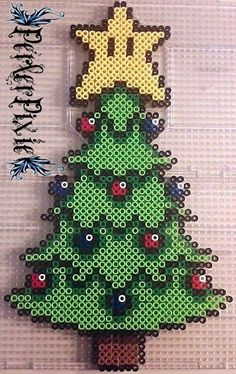 Mario Christmas tree perler beads by PerlerPixie on DeviantArt