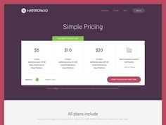 Peak at the pricing page redesign for the guys at Harrow.
