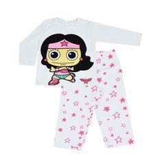 Conjunto Infantil Manga Longa Mulher Maravilha Baby #LojaDCComics #DCComics #WonderWoman #MulherMaravilhaBaby #bandUP