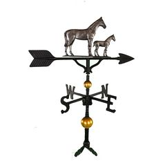 32 in. Deluxe Swedish Iron Mare and Colt Weathervane