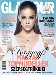 Barbara Palvin by Vince Barati on the cover of Glamour Hungary July 2012
