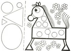 Really ~ Cool Geometric shapes into ART! Gross Motor Activities, Montessori Activities, Fun Activities For Kids, Classroom Activities, Book Activities, How To Make Drawing, Drawing For Kids, Teaching Geometry, Shape Games