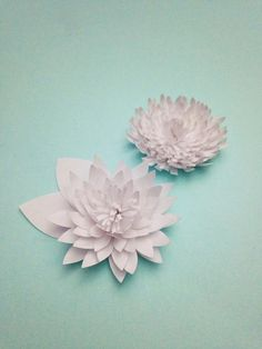 Paper Water Lilies & Chrysanthemums Tutorial — Only Just Becoming