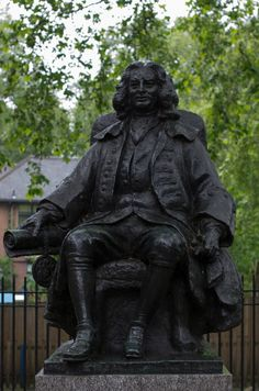The statue of Sir Thomas Coram outside the Foundling Museum, London