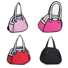 3D Animation Backpack 2D Comic Bag Cartoon Handbag Shoulder Bag Cute WBH020 #Jeansian #ShoulderBag