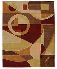 Handmade Rodeo Drive Deco Beige/ Multi N.Z. Wool Rug (9'6 x 13'6)