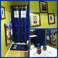 Perfect Doctor Who Tardis Bathroom ThinkGeek.com, Etsy (prints)