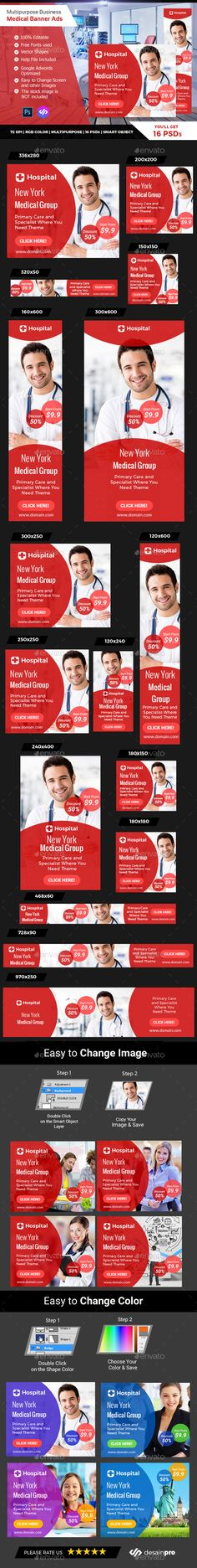 Red Doctor Medical Banner Ads - Banners & #Ads #Web #Elements Download here: https://graphicriver.net/item/red-doctor-medical-banner-ads/19742613?ref=alena994