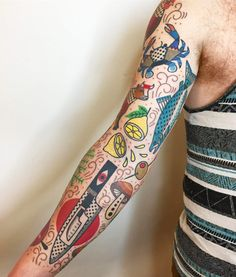 Technicolor Tattoos Mix Psychedelic Graphics with Memphis-Inspired Patterns – Tattoo Pattern Marquesan Tattoos, Irezumi Tattoos, Tribal Tattoos, Tatuajes Tattoos, Geometric Tattoos, Tatoos, Modern Tattoos, Arm Tattoos, Tattoo Henna