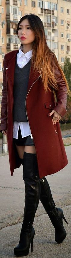 #Burgundy #Coats (giveaway On The Blog) by Wear 2day