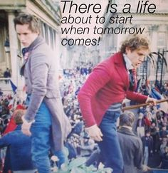 Marius and Enjolras 'Do You Hear the People Sing'