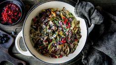 Enkel gryte av reinskav: Reinskavgryte Ratatouille, Cabbage, Meat, Vegetables, Ethnic Recipes, Food, Alternative, Cloakroom Basin, Essen