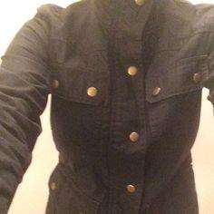 Jcrew relaxed boyfriend filed jkt Lightly worn.  Too smug for me.  Size XS.  Adjustable waste J. Crew Jackets & Coats Jean Jackets