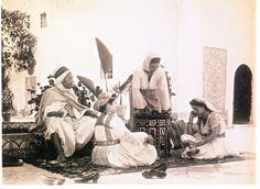 Algeria-Scène Typique d'Une Famille Algéroise du 19ème Siècle.