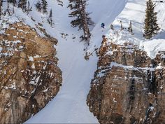 Hadley Hammer goes huge in the Jackson Hole Mountain Resort side country.