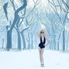 Karlie Kloss Battles the Blizzard