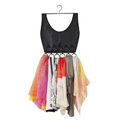 So cute! Umbra Boho Dress 16-Ring Scarf Hanger Organizer