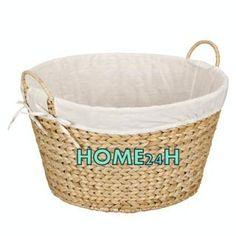 Home24h co,.ltd: Handwoven Storage Basket / Water Hyacinth Log Baskets