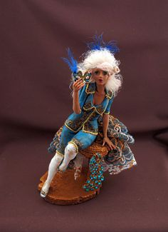 Amazing artistry! OOAK Art Doll CoCo Antuanet Mini-Sculpture by by KristiinaMeiner