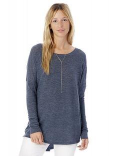 Alternative Women's Ramble Eco-Gauze Raglan Tunic Tidal Blue