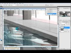 Pool illustration part II: architecture photoshop rendering - YouTube