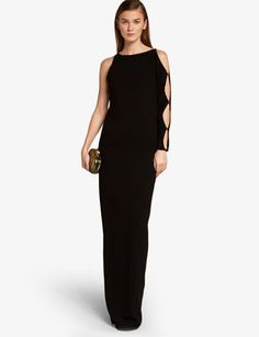 HALSTON HERITAGE The Asymmetric Crepe Gown