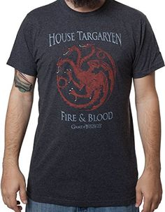 Men's Game of Thrones House Targaryen Shirt Black Small