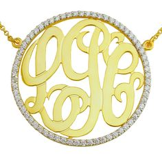 Mono88 Yellow gold plated Sterling Silver 15/8 by SilverNStyle, $189.99