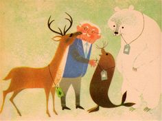 my vintage book collection (in blog form).: The Animals' Vacation - illustrated by Shel and Jan Haber