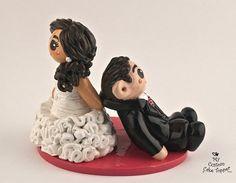 Custom Wedding Cake Topper Bride and Groom by MyCustomCakeTopper, $105.00