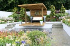 Sunken pool. RHS Tatton Park Flower Show Designer - Jamie Dunstan