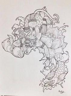 Thai Tattoo style by deaw tattookill