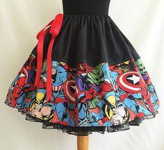 Marvel Print Full Skirt