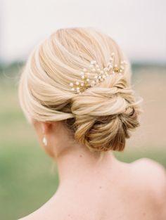 simple but elegant updo bridal haistyles for long hair