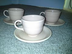 3 HOMER LAUGHLIN FIESTA FIESTAWARE APRICOT PEACH CUPS & SAUCERS DISCONTINUED   Pottery & Glass, Pottery & China, China & Dinnerware   eBay!