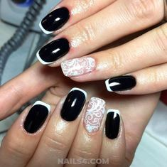 Easy French Nail Design Ideas / My Fantastic And Graceful French Nail Art Ideas Easy Nail Art, Cool Nail Art, French Nails, Nailart, Classic Nails, French Nail Designs, Party Nails, Halloween Nail Art, Get Nails
