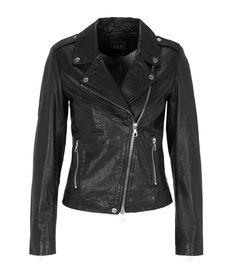 SET Fashion Tyler Leather Jacket: This biker style leather jacket from SET,made of 100% lamb leather, is a must have this season. A high quality leather jacket becomes a staple in any wardrobe, the inner grey jersey lining of the 'Tyler' adds further detail, while also giving you extra comfort. Pair with almost anything for classic effortless style which will become your go-to look that is fail safe.