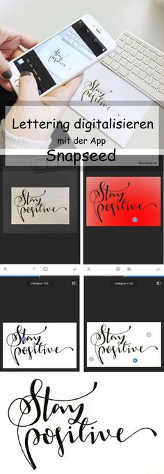 Tutorial: Lettering mit Snapseed digitalisieren
