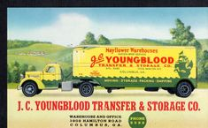 C826 Advertising Blotter Youngblood Mayflower Van Lines Columbus GA
