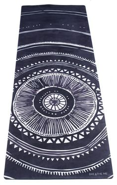 Oceana - Grey. Printed Yoga Mat. Unique, limited edition, eco-friendly yoga mats created from hand-painted artwork.