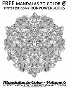 free intricate printable mandala design from ironpowerbooks follow our boards for new coloring page