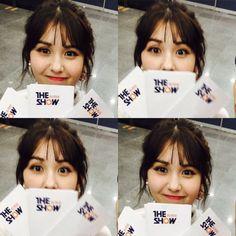 Tongue, straw and other stuff Kpop Girl Groups, Korean Girl Groups, Kpop Girls, Jeon Somi, Ioi, Cute Faces, How To Take Photos, K Idols, Korean Singer